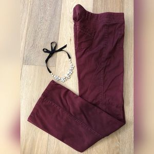 Anthro DAUGHTERS OF THE LIBERATION Maroon Pants